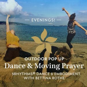 People dancing on the beach Bettina Rothe flyer