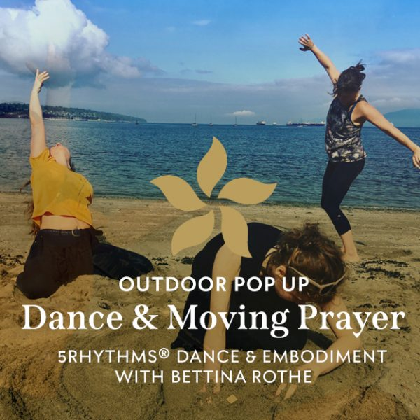 People dancing on the beach with Bettina Rothe